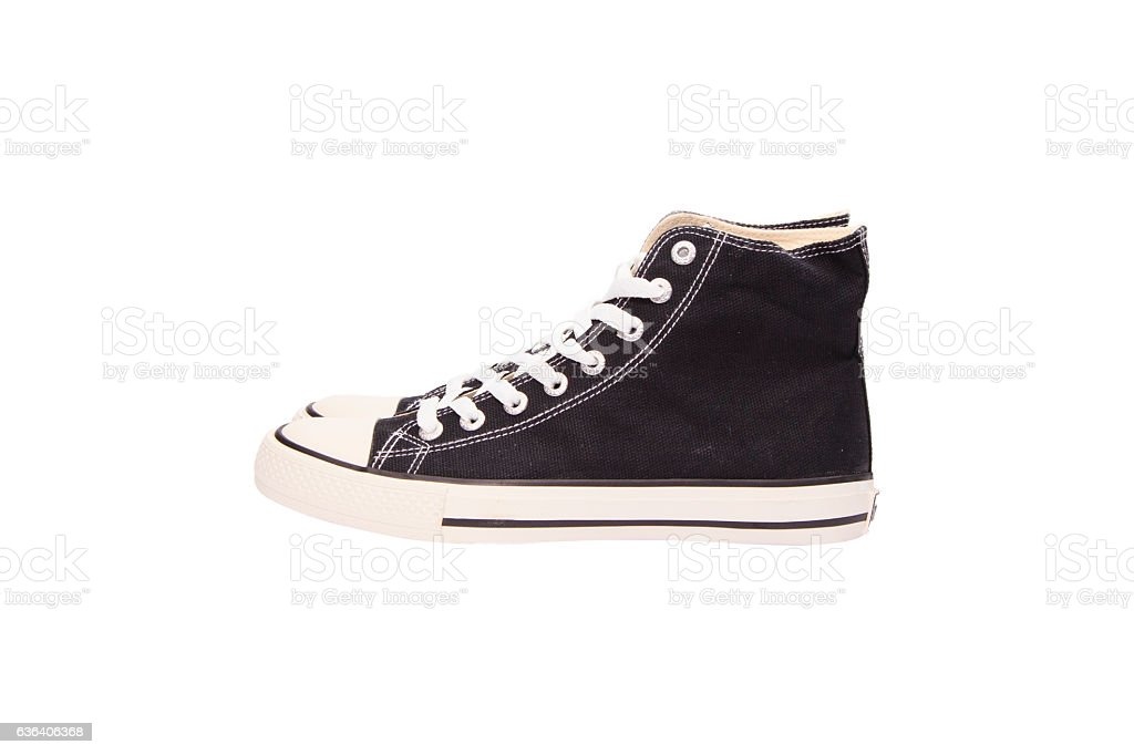 Sneaker on White Background stock photo