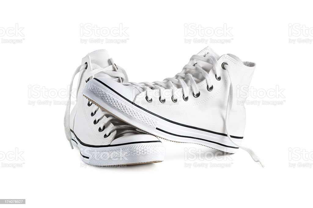Sneakers isolated with clipping path stock photo