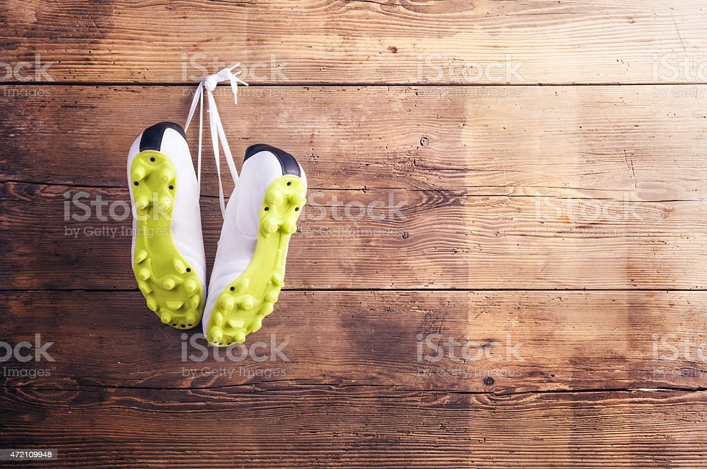 Sneakers on the floor stock photo