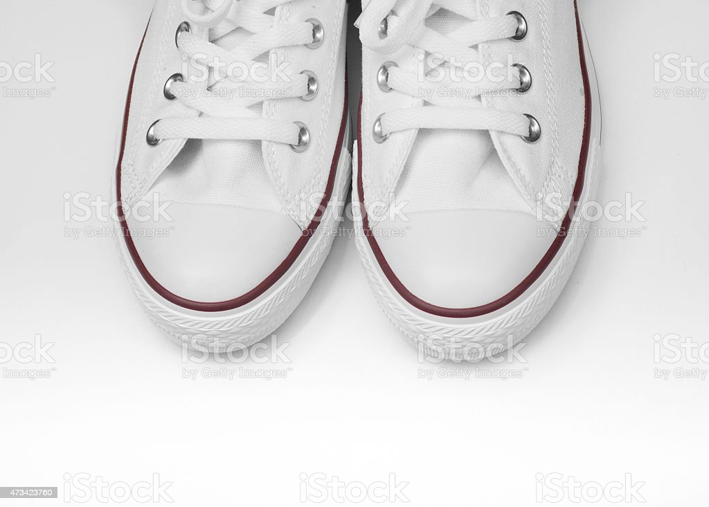 sneakers white shoes stock photo