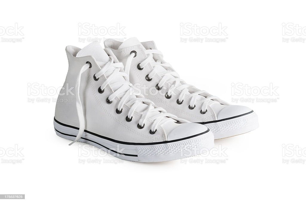Sneakers with clipping path stock photo