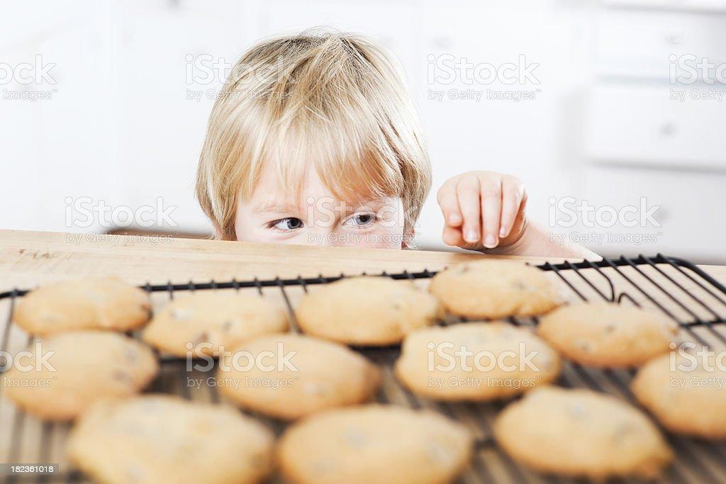 Sneaking Cookies stock photo