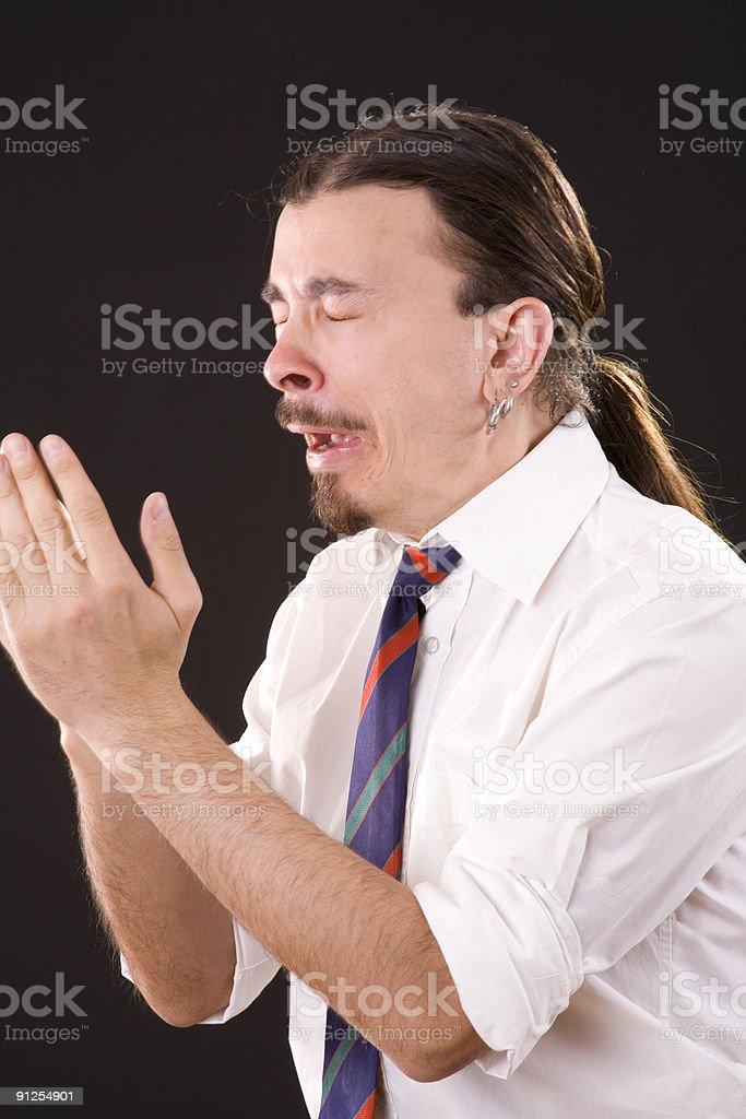 sneeze royalty-free stock photo