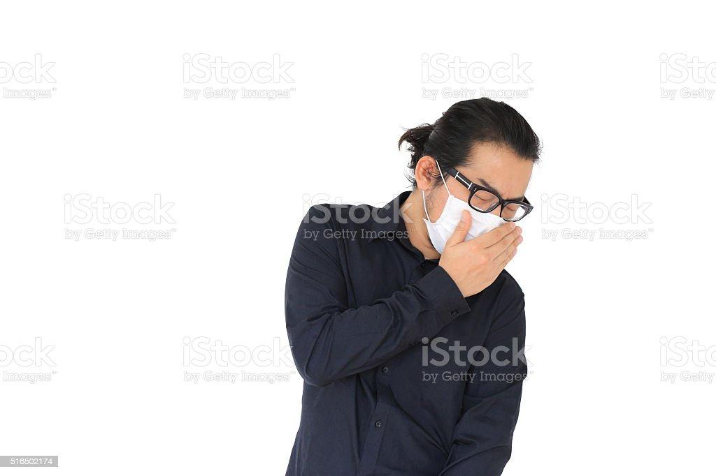 Sneezing stock photo