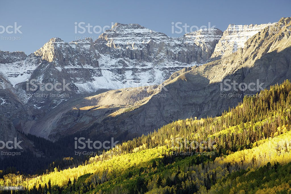 Sneffels Range in Autumn royalty-free stock photo