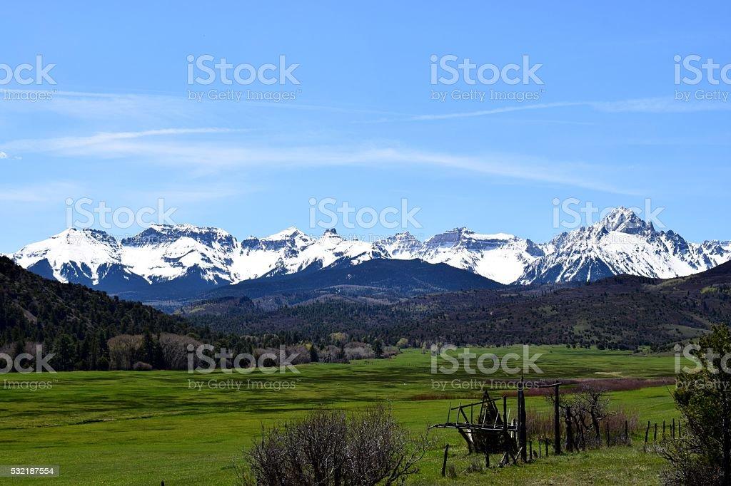 Sneffels Range in Springtime stock photo