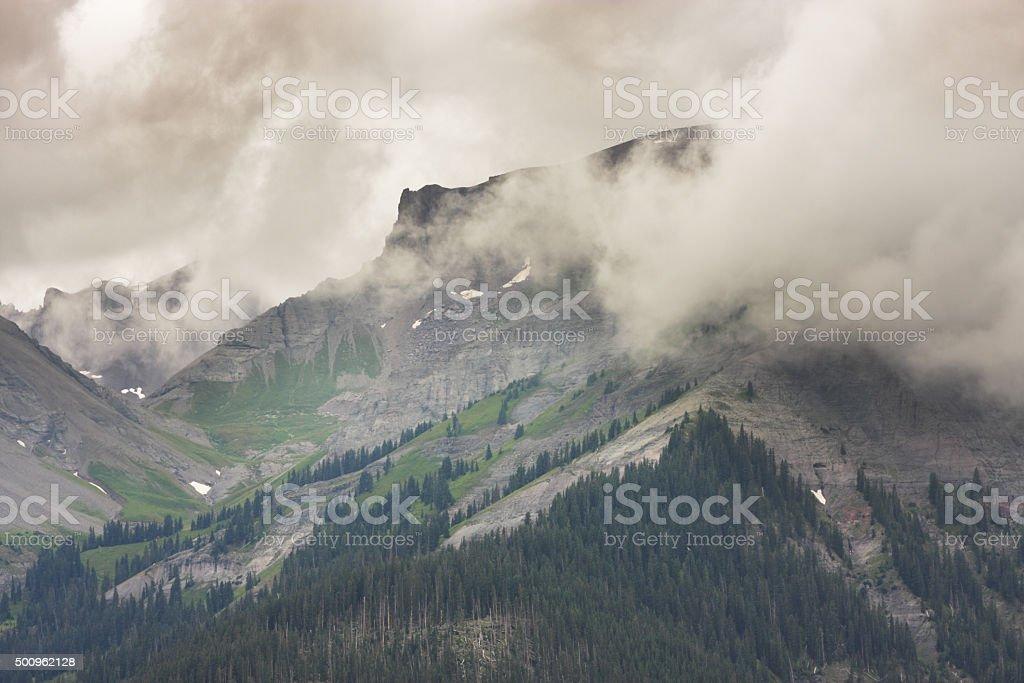 Sneffels Range Landscape Storm stock photo