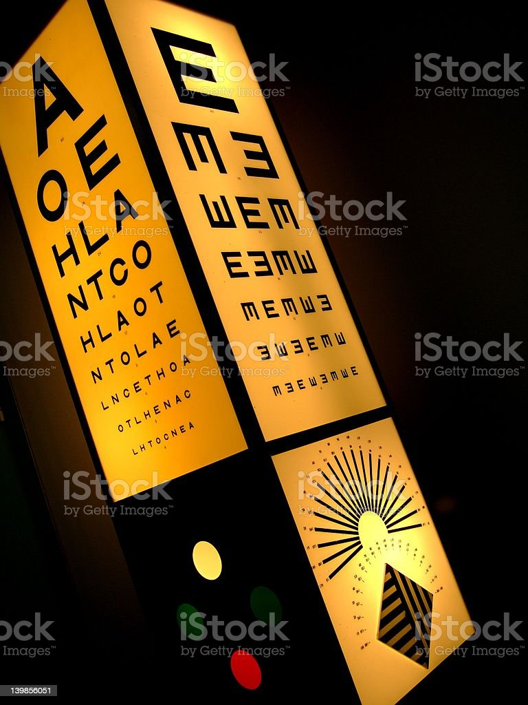 Snellen chart royalty-free stock photo