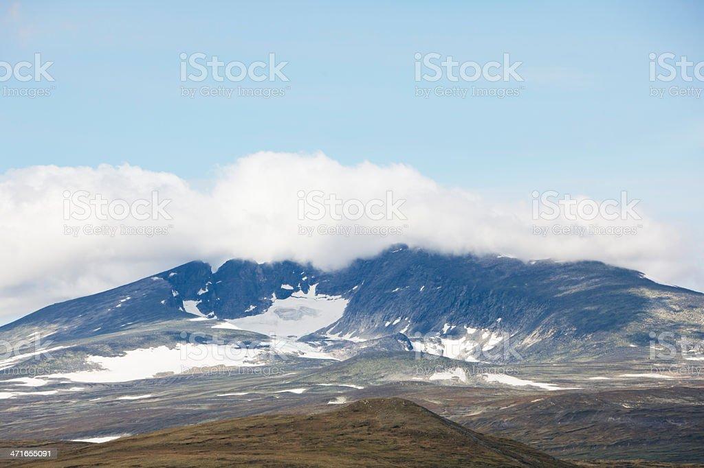 Snøhetta mountain range. stock photo