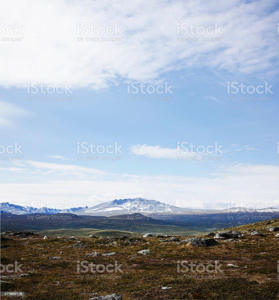 Snöhetta mountain range. stock photo