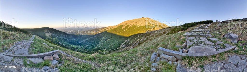 Sniezka - Karkonosze (Sudety) mountains - Poland / Czech Republic stock photo