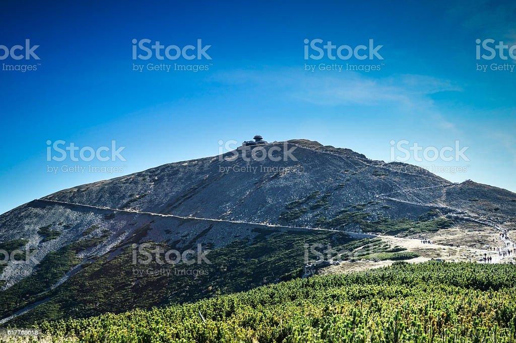 Sniezka Mountain. stock photo