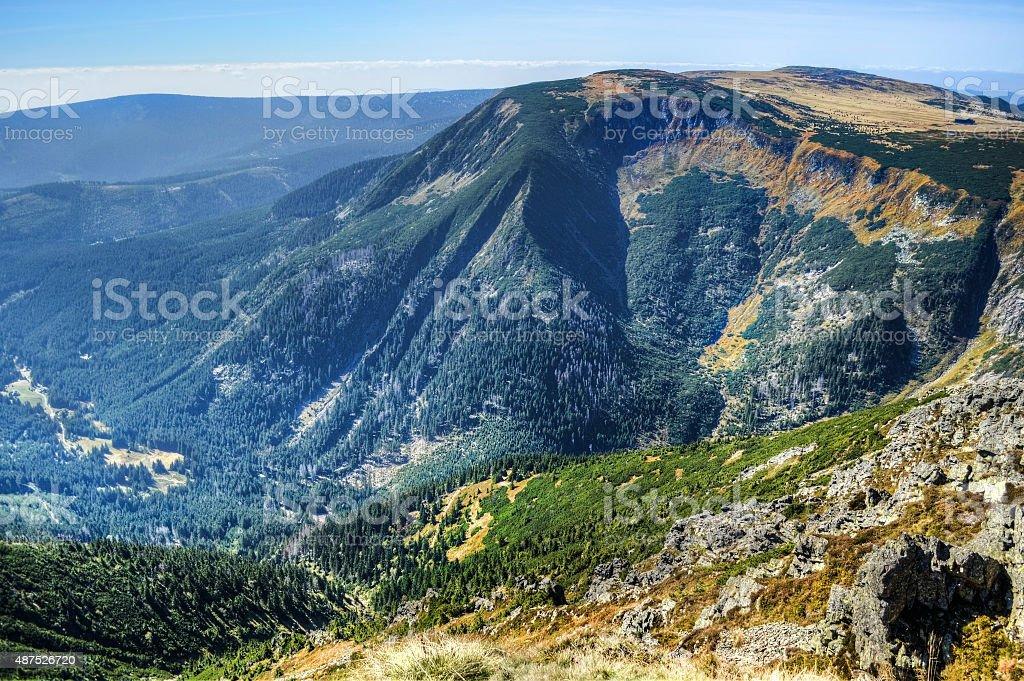 Sniezka Trail stock photo