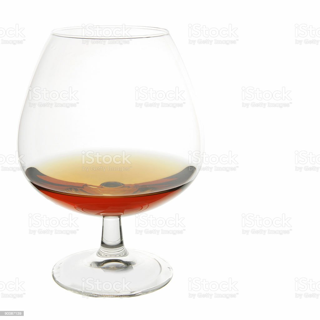 Snifter glass of cognac royalty-free stock photo