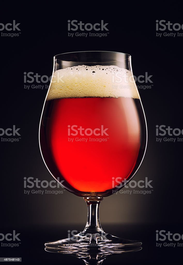 Snifter of Beer stock photo