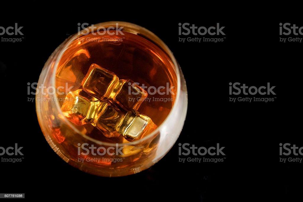 snifter of  brandy in  elegant  glass stock photo