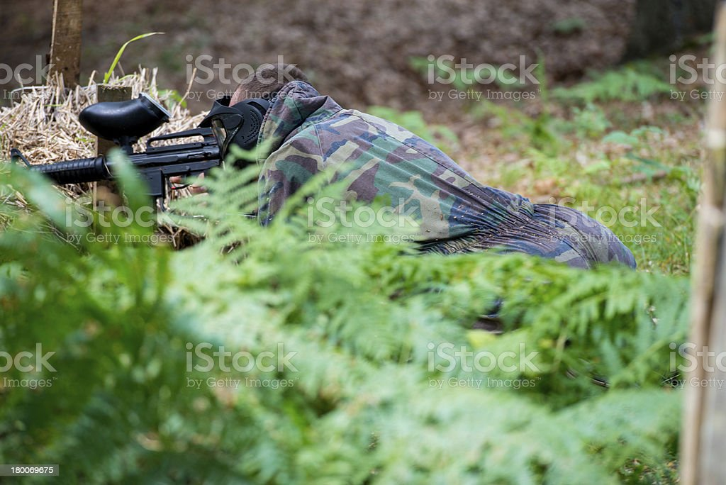 Sniper Aiming Gun royalty-free stock photo