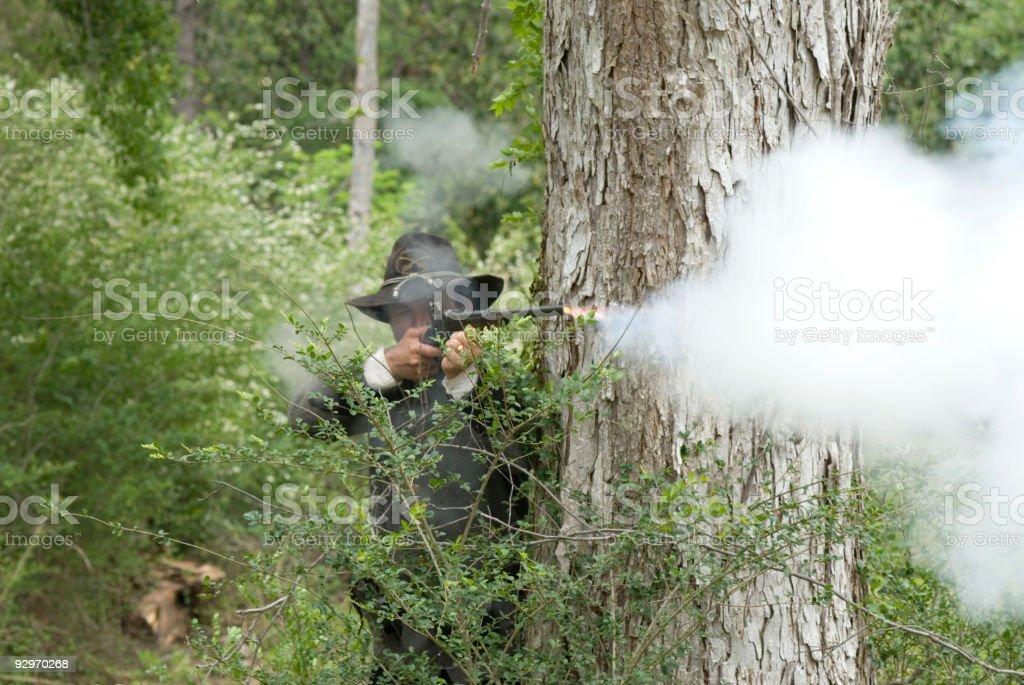 Sniper Fire stock photo