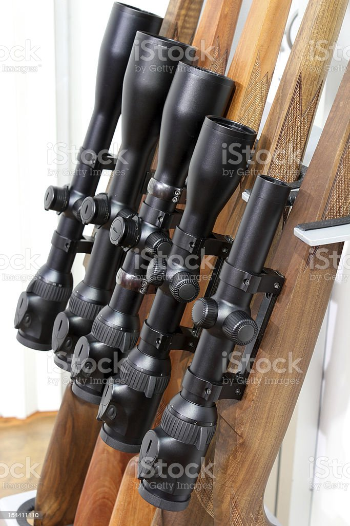 sniper for hunting rifle royalty-free stock photo