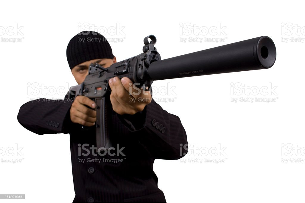 Sniper Isolated on White royalty-free stock photo