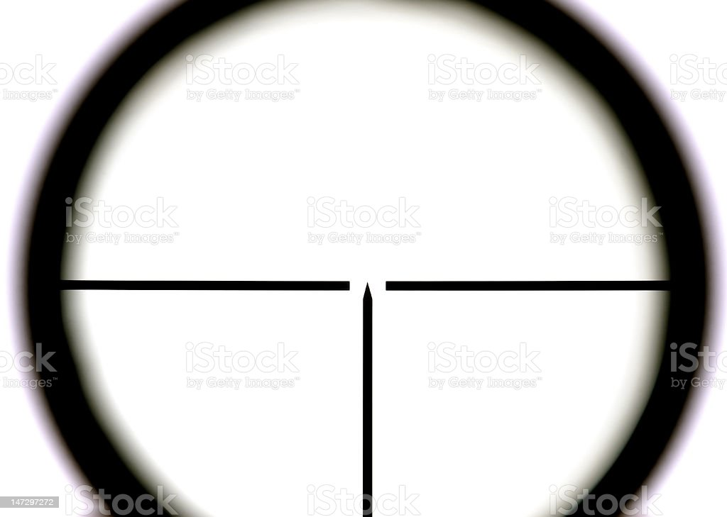 Sniper on white background royalty-free stock photo