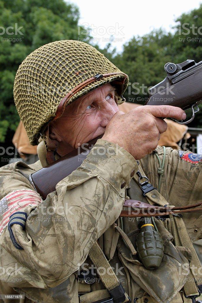 WW2 Sniper stock photo