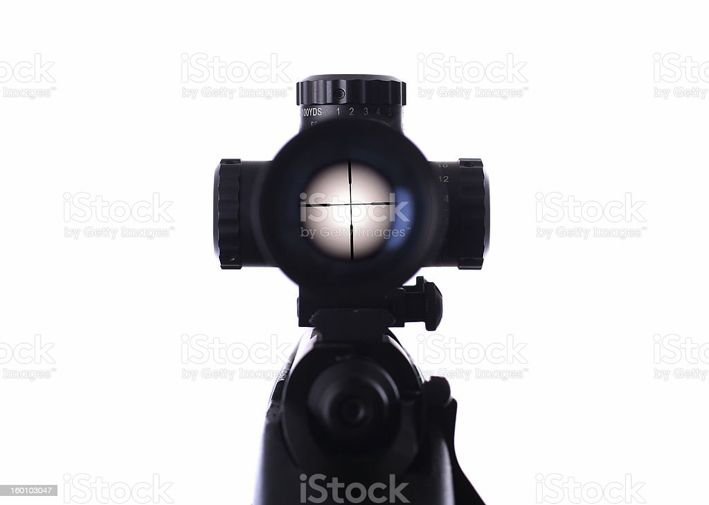sniper scope royalty-free stock photo