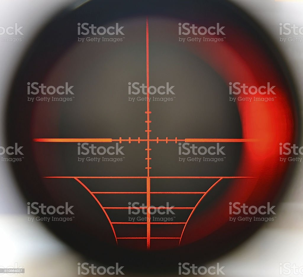 Sniper scope stock photo