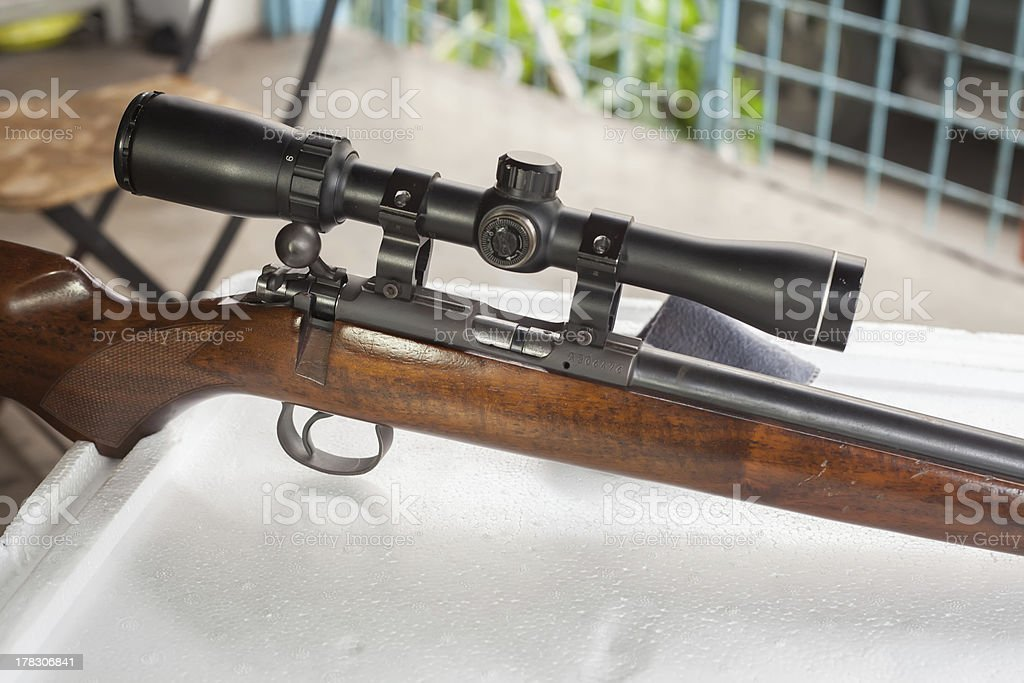 Snipers Rifle royalty-free stock photo