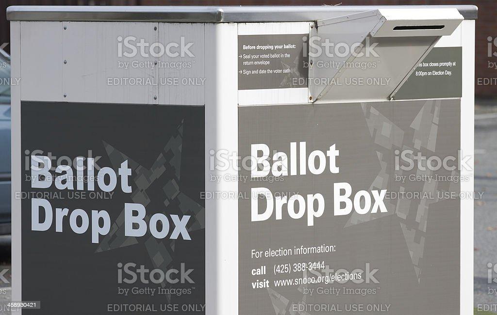 Snohomish County Ballot Drop Box royalty-free stock photo