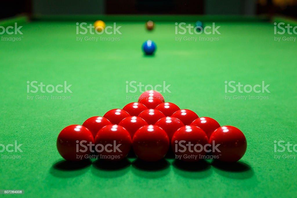 Pallina Da Snooker Su Un Tavolo Da Biliardo Foto di Stock ...