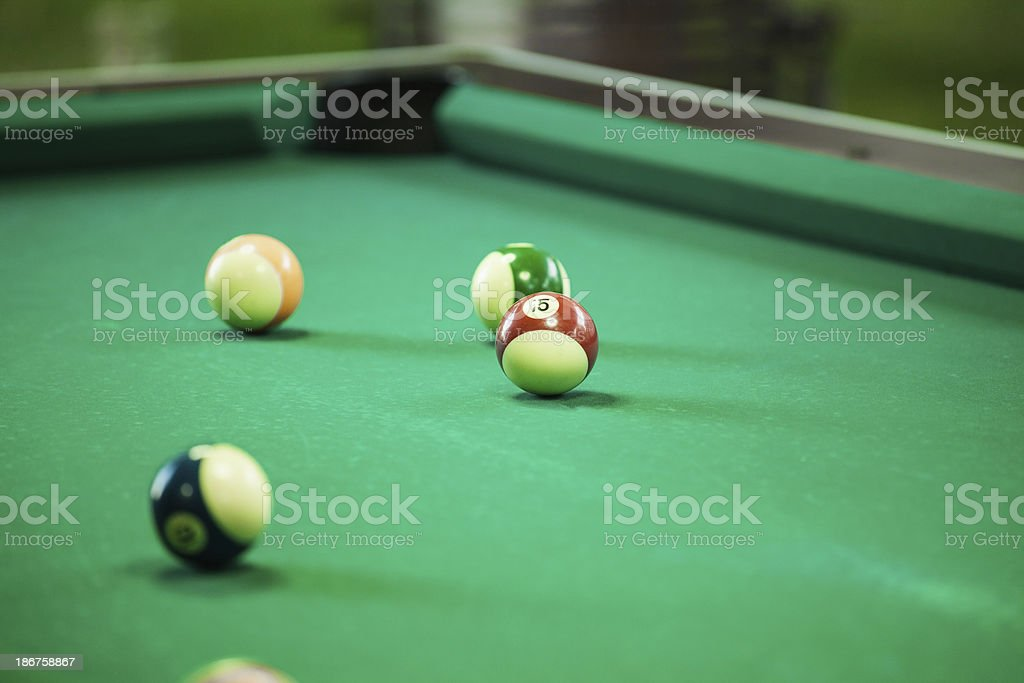 Snooker balls royalty-free stock photo