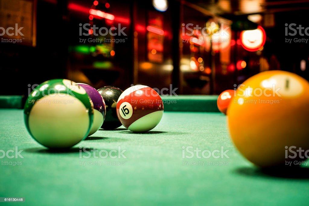 Snooker bar stock photo
