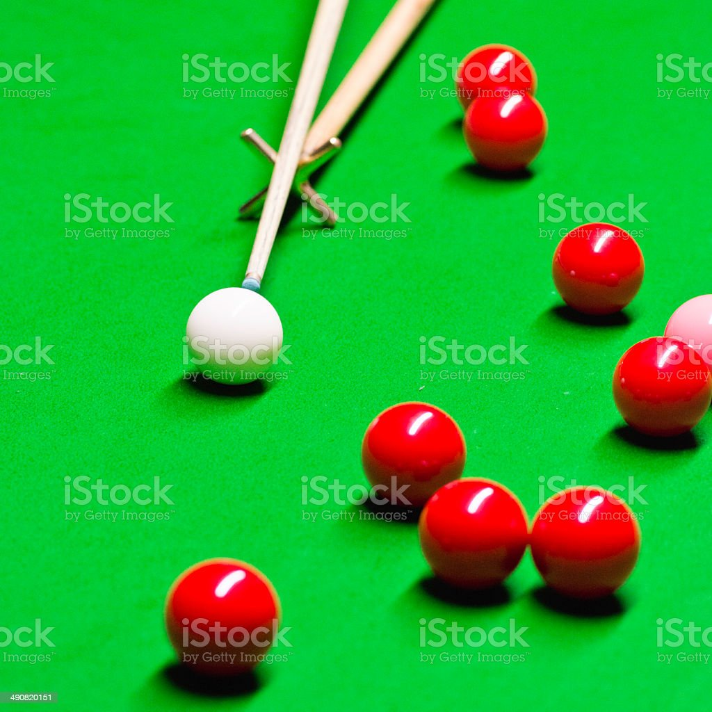 Snooker stock photo