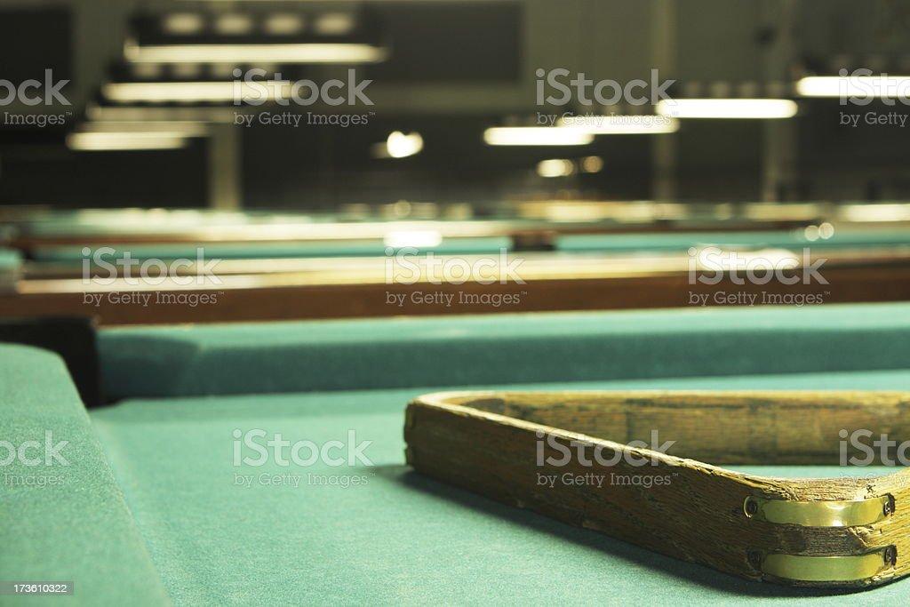Snooker Pool Billiard Hustler Game royalty-free stock photo