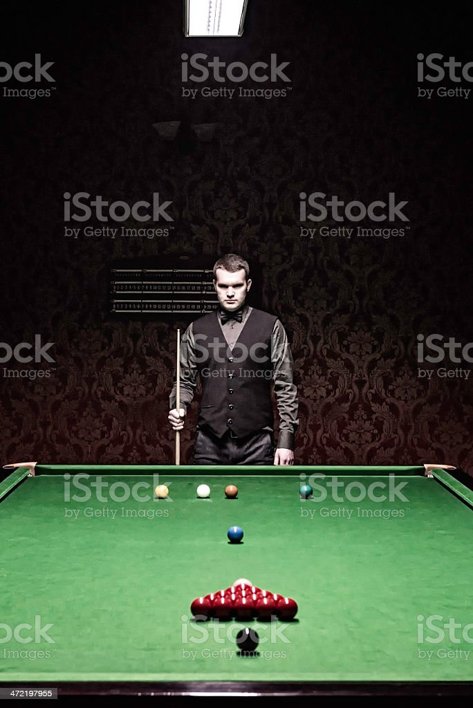 Snooker professional royalty-free stock photo