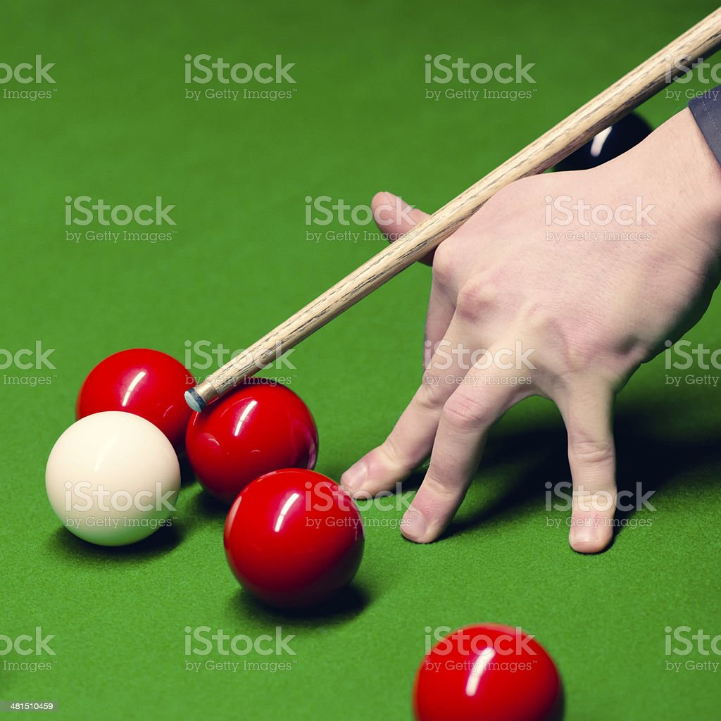 Snooker shot stock photo