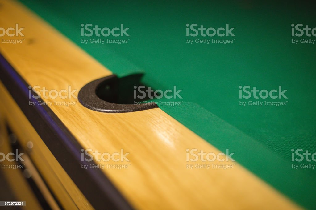 Snooker-s middle pocket stock photo