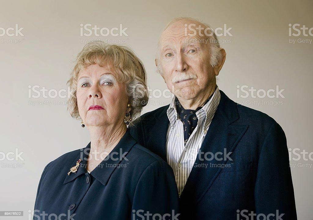 Snooty Senior Couple stock photo