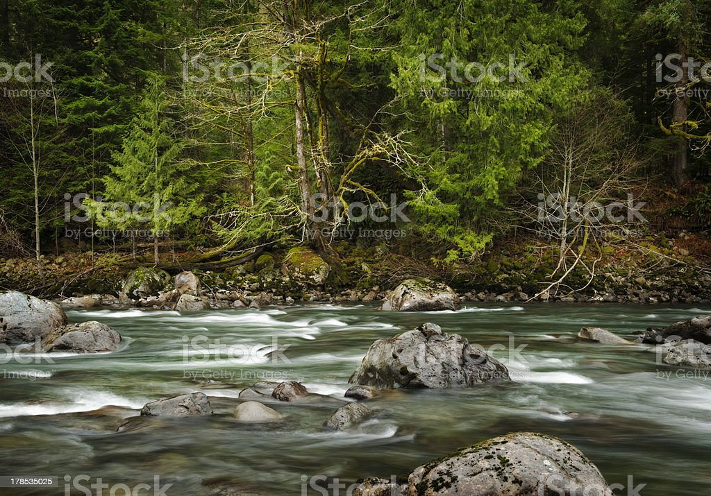 Snoqualamie River stock photo