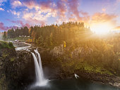 Snoqualmie Falls in fall