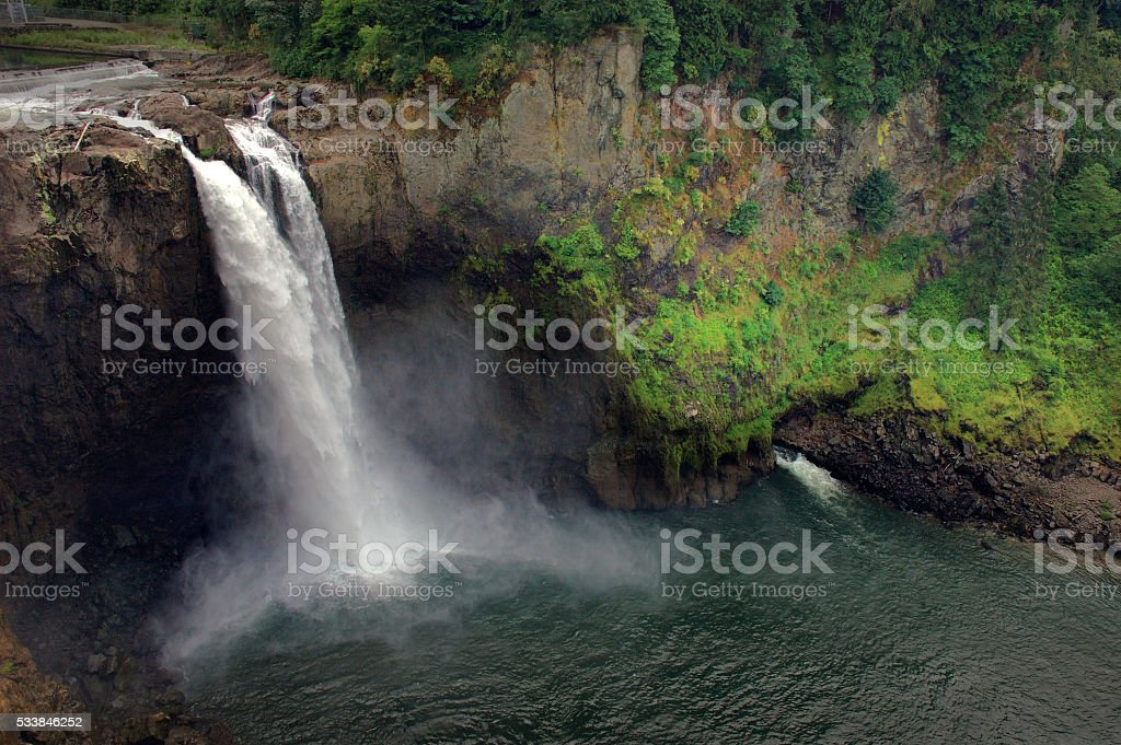 Snoqualmie Falls in Summer Washington State stock photo