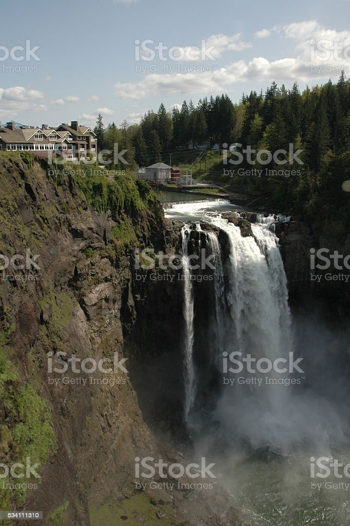 Snoqualmie Falls near Seattle stock photo