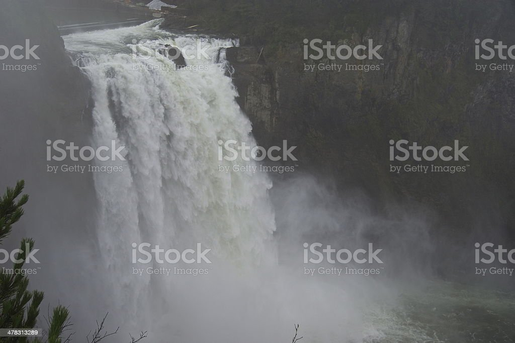 Snoqualmie Falls Power stock photo