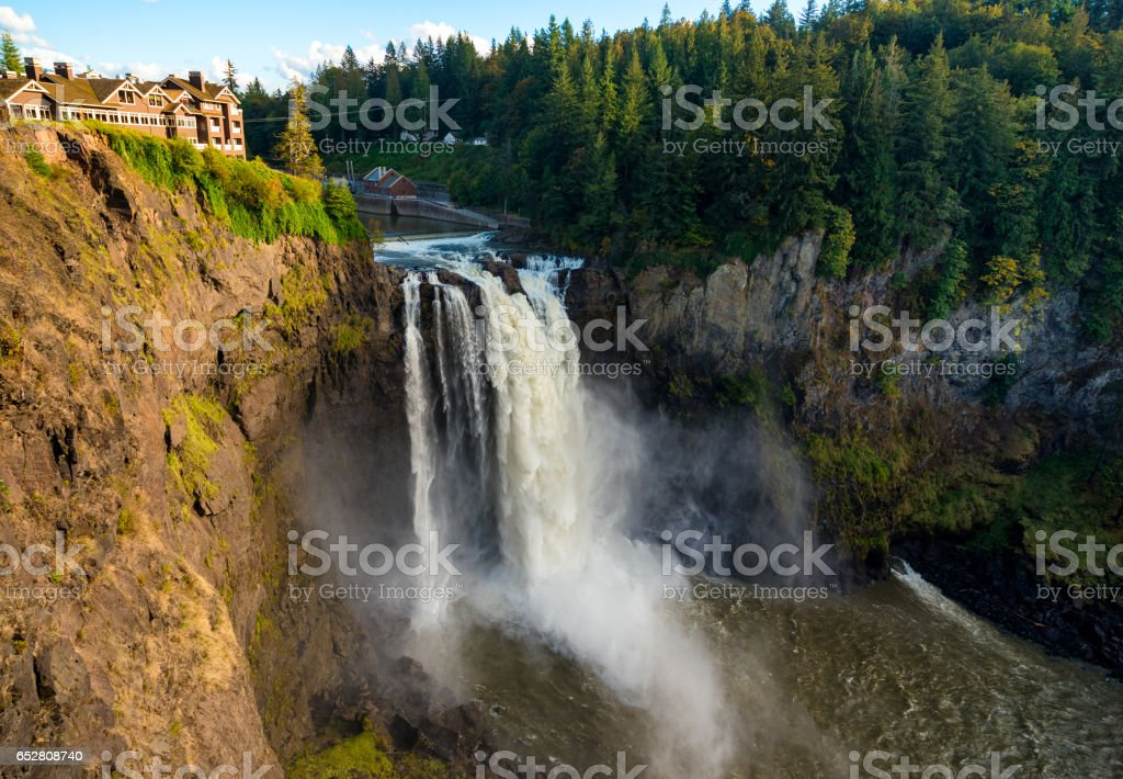 Snoqualmie Falls wide stock photo