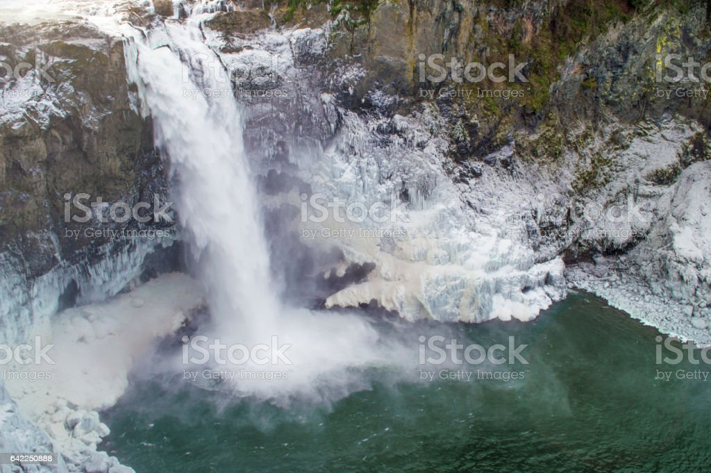 Snoqualmie waterfall stock photo