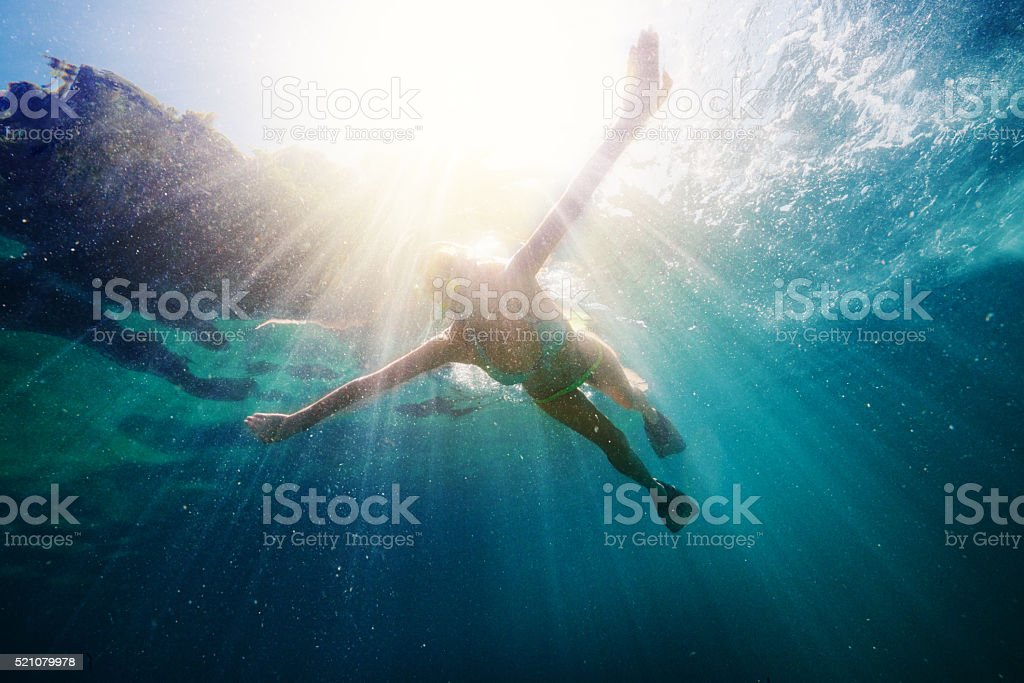 Snorkel for the pleasure of just being free stock photo