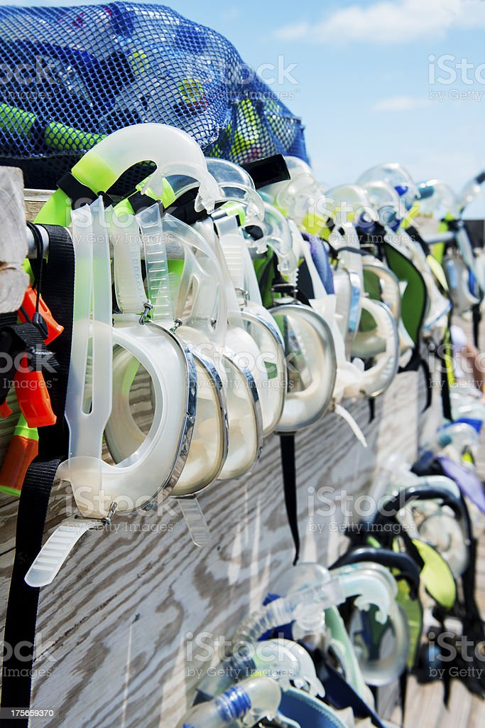 Snorkel Masks stock photo