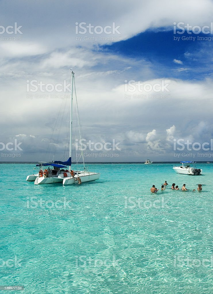 Snorkel Sandbar stock photo