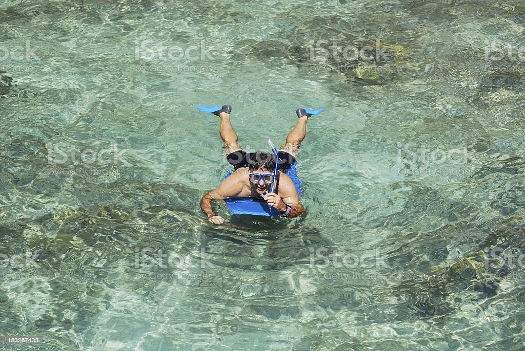 Snorkeling at Crystal Clear Waters royalty-free stock photo
